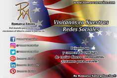 ¡Síguenos en nuestras redes sociales!  #RomarcaEnvios #EnvioDeDinero #VenezolanosEnElExterior
