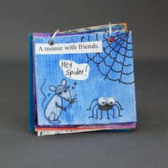 Inchie Books @Liz Mester Mester Mester Mester Mester Mester Jorgensen this is from that artist blog I was telling you about while you were here.  You should check out her archives.