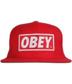Obey Clothing Original Snapback - Red Red  25.00  obey Dude Perfect f1672a57ea08