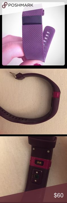 Gently used Fitbit charge hr Large plum//works great and great quality product! Comes with charger. Other