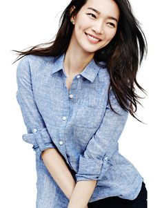 More Of Shin Min Ah & Kim Woo Bin For GIORDANO's Spring 2015 Campaign | Couch Kimchi