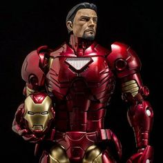 """Damn That Is One Fine Looking Iron Man. 'Armorize Iron Man Figure Metallic Exclusive' 7"""" Figure Available At BBTS. Standard Matte Version is Much Cheaper (But Less Bling) At  http://amzn.to/1YVFXjD  #marvel #ironman #sentinel #tonystark #ironman #toys #toystagram # FLYGUY #twitter #googleplus"""