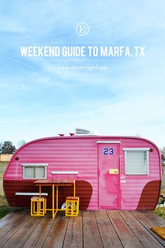 Stylish refurbished trailers at El Cosmico near Marfa, Texas - perfect stop over for a road trip Texas Roadtrip, Texas Travel, Travel Usa, Arizona Travel, Austin Texas, Marfa Texas, Texas Tour, Cabana, Texas Bucket List