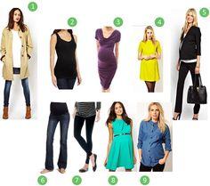 Maternity Wardrobe Essentials   Vera http://www.redovercoat.com/2013/10/mommy-monday-maternity-wardrobe.html