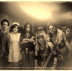 Orianthi and the rest of the alice cooper band