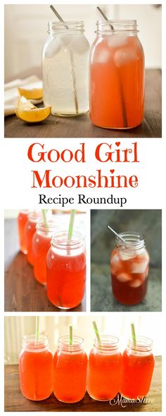 Ready to get your Moonshine on? A Good Girl Moonshine Recipe Roundup of some of our favorite drinks! Trim Healthy Mama All-Day Sippers.