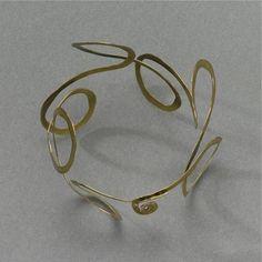 Bracelet   Alexander Calder, hammered brass, circa 1940     43'750$ ~ Sold May '09