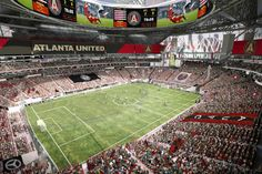 Mercedes Benz Stadium as it might look for Atlanta United.