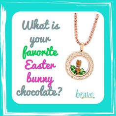 Great engagement post for social media or FB parties. Easter jewelry by Origami Owl www.nancypye.origamiowl,com