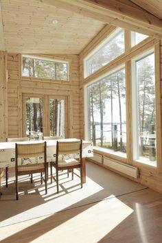 Intérieur maison bois Kontio