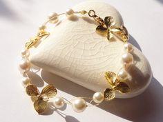 """Vergoldetes Armband """"Flower"""" von Waikiki-Shop auf DaWanda.com"""