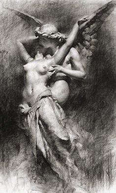 Herbert James Draper(1863—1920) - Eros and Psyche