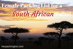 Packing list for a South African safari (in winter)