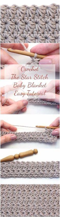 Crochet The Star Stitch Baby Blanket Easy Tutorial