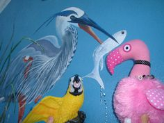 Patsy & Paulie Peterson love the murals found throughout Punta Gorda, Florida