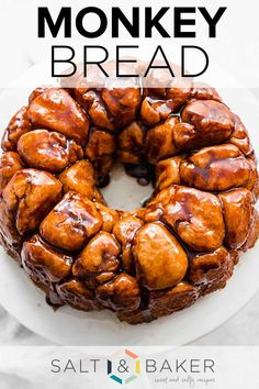 This homemade monkey bread recipe is the best! Made from scratch, each pull apart monkey bread roll is so soft and fluffy! It's easy to make and tastes so yummy! Don't make this with the canned biscuits — it won't be nearly as yummy!