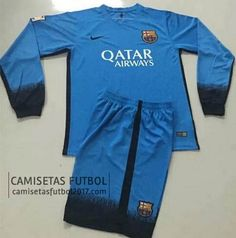 Tercera camiseta de manga larga Barcelona 2015 2016 | camisetas de futbol baratas