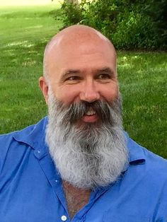 "silverbearded: ""Lastest photo and really happy with my beard! Beard Game, Epic Beard, Men Beard, Grey Beards, Long Beards, Moustaches, Bald With Beard, Bald Men With Beards, Beard Model"