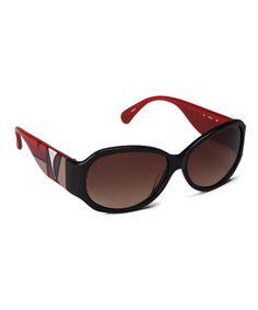 Look what I found on #zulily! Black & Red Geo Sunglasses #zulilyfinds