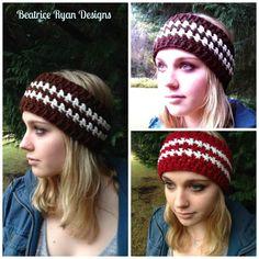 Winter's Twist Free Headband Pattern using worsted weight yarn Bandeau Crochet, Crochet Headband Pattern, Crochet Cap, Knitted Headband, Crochet Scarves, Crochet Clothes, Free Crochet, Crochet Headbands, Crocheted Hats
