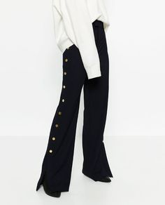 ZARA - WOMAN - TROUSERS WITH GOLDEN SIDE BUTTONS