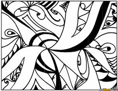 Complex Abstract Coloring Page Free Online Printable Pages Sheets For Kids Get The Latest Images