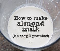 how to make almond milk.