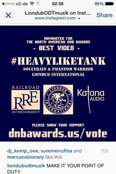 VOTING CLOSES TONIGHT @soultrain_bln  @PW_KATANAAUDIO @liondub  THANKS UR SUPPORT buff.ly/1O7kJb