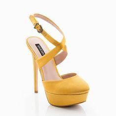Yellow Mellow beautiful suede heels