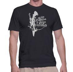 New The Arrow Became Survive T-shirt Vigilante The TV Series Oliver Queen Hood #Custom #BassicTee