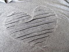 """WobiSobi: """"Re-Style #56 Heart Shaped, Off the Shoulder Tee-Shirt"""