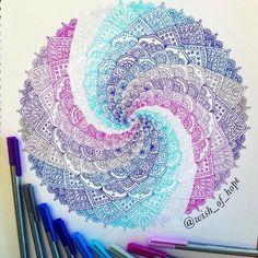 Another spiral mandala (inspired by @drawing_in_ice) ••• #creative #mandala #drawing #art #mandalala #heymandalas #zentanglemandalalove #mandala_sharing #tacart #originaldesign #beautiful_mandalas #mandalapassion #young_artists_help #blissrainbows #staedtler #staedtlertriplusfineliner #artdiscover #arts_gallery #arrtposts #dailyartistiq #yosoyzentangler #blvart #doodle #tangle #zentangledays #mandalalove #Zentanglekiwi #mySTAEDTLER