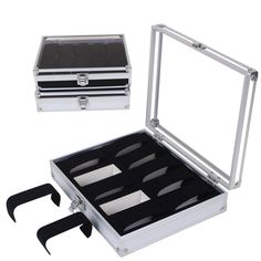 52.50$  Know more - http://air2s.worlditems.win/all/product.php?id=32709721878 - 10 Grid Watch Box Case Insert Slots Jewelry Watches Display Storage Box Case Aluminium  Jewelry Decoration Skmei Caja Reloj