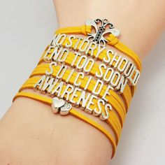 Multi-Colored Suicide Prevention & Awareness Bracelet