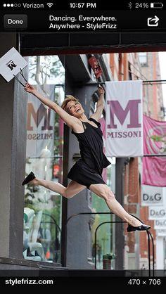 My friend, Julie Tice, with Paul Taylor Dance Co.