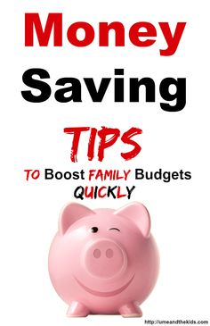 Money Saving Tips to boost family budgets! It's easy to get stuck in a whole when you can make these simple and effective changes that could help you and your family save some money. #frugalliving #moneysaving