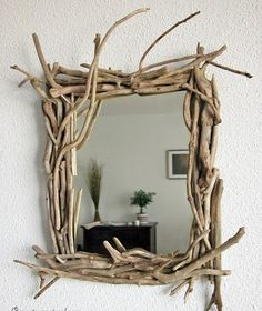 Новости Home Budget, Interior Decorating, Driftwood Mirror, Frame, Creations, House, Ideas, Furniture, Budgeting