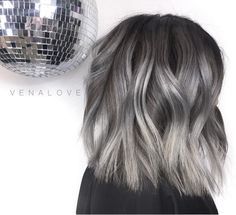 "⠀⠀⠀⠀⠀⠀⠀⠀⠀🔺QUEEN VĒNA LOVE 🔻 on Instagram: ""Geez this hair is super sexy! Silver silk baby😻🤤 Rooty bleach out + base color + tone + haircut + hairstyle #hairbyvena @oligopro…"""