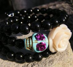 The Original Day of the Dead Bracelet 3 by donnaelizabethdesign, $19.99