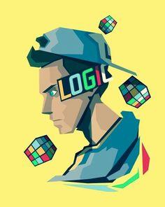 Logic art Rap Background, Instagram Background, Logic Art, Logic Music, Logic Rapper Wallpaper, Great Artists, Music Artists, Cubes, Artist Wall
