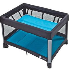 4moms Breeze - this is the best on-the-go crib/changing table you could ever want.