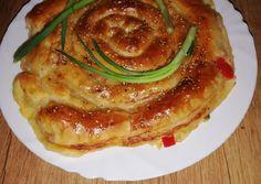 (1) Töltött óriáscsiga leveles tésztából   Anta receptje - Cookpad receptek Mozzarella, Pancakes, Bacon, Breakfast, Food, Morning Coffee, Essen, Pancake, Meals