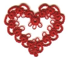 MaryM's Original cro-tat heart Valentine,tatting with crochet hook, crochet tatting by Gabriela Alegre