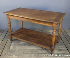 French Oak 19th Century Draper's Table 1880