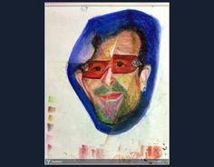 HBD..Bono... /Singer #Creative #Art #Painting @touchtalent.com