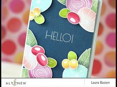 Laura uses the Simple Flowers stamp set & coordinating dies along with several Altenew inks to create this gorgeous floral project. For more details & inform...