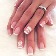 Bows - French Manicure 9 Design Inspirations