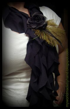 no sew ruffle scarf -looks great in the photo, mine felt flimsy and not sure if I'll wear it.