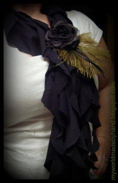 no sew ruffle t-shirt scarf