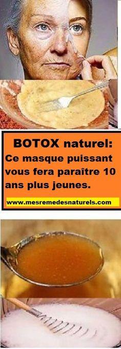 BOTOX naturel: Ce masque puissant vous fera paraître 10 ans plus jeunes.